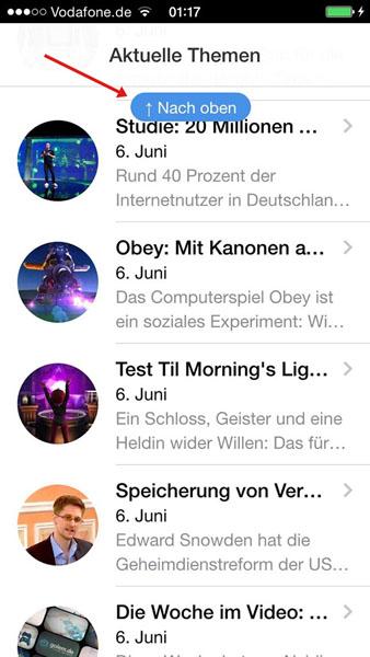 Upscroller Screenshot